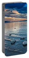 Portable Battery Charger featuring the photograph Rocky Lake Vista by Tom Gresham