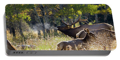 Rocky Mountain Bull Elk Bugeling Portable Battery Charger