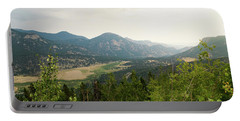 Portable Battery Charger featuring the photograph Rocky Mountain Overlook by Nicole Lloyd