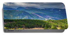 Portable Battery Charger featuring the photograph Rocky Mountains - Green by James L Bartlett