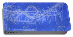 Roller Coaster Amusement Park Vintage Patent Blueprint Portable Battery Charger