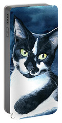 Rollie Tuxedo Cat Painting Portable Battery Charger