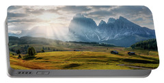 Rolling Hills Of Alpe Di Siusi Portable Battery Charger