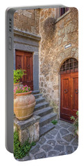 Romantic Courtyard Of Tuscany Portable Battery Charger