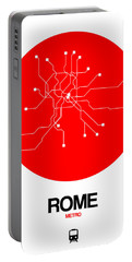 Rome Red Subway Map Portable Battery Charger