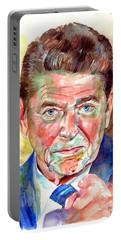 Ronald Reagan Portrait Portable Battery Charger
