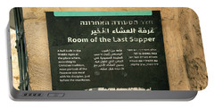 Portable Battery Charger featuring the photograph Room Of The Last Supper by Mae Wertz