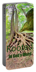 Rooted In God's Word Portable Battery Charger