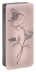 Rose Blush Pink Flower Portable Battery Charger
