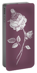 Rose Purple Flower Portable Battery Charger