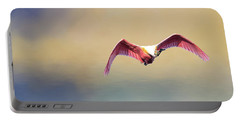 Roseate Spoonbill At Sunrise Portable Battery Charger