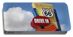 Route 66 Drive-in Sign Portable Battery Charger
