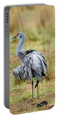 Ruffled Crane Portable Battery Charger