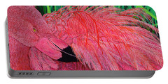 Ruffled Flamingo Portable Battery Charger