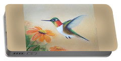 Rufous In Marigolds  Portable Battery Charger