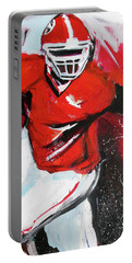 Portable Battery Charger featuring the painting Run For It by John Jr Gholson