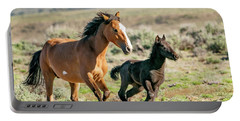 Running Wild Mustangs - Mom And Baby Portable Battery Charger