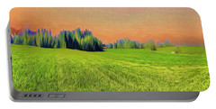 Portable Battery Charger featuring the digital art Rural Delight by Edmund Nagele