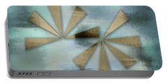 Rusted Triangles On Blue Grey Backdrop Portable Battery Charger