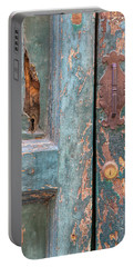Rustic Green Door Of Cortona Portable Battery Charger