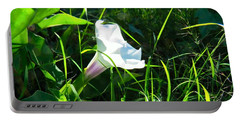 Portable Battery Charger featuring the photograph Sacred Datura - Fairy Flower by Judy Kennedy