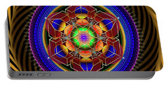 Sacred Geometry 763 Portable Battery Charger