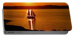 Sailing At Sunset Portable Battery Charger