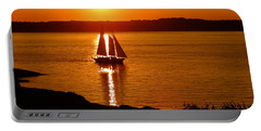 Sailing At Sunset Portable Battery Charger