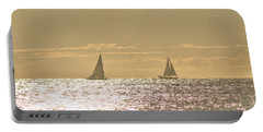 Portable Battery Charger featuring the photograph Sailing On The Horizon by Robert Banach