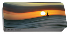 Sailing To The Sunset Portable Battery Charger