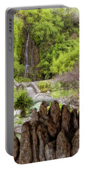 San Antonio Japanese Tea Garden - Texas - Waterfall Portable Battery Charger