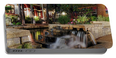 San Antonio Riverwalk Waterfall - Christmas - Texas Portable Battery Charger