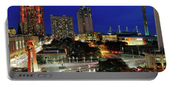 San Antonio Skyline At Christmas - Torch Of Friendship - Texas Portable Battery Charger