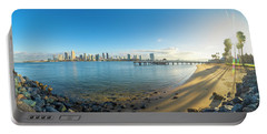 San Diego Bay - Panorama Portable Battery Charger