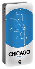 San Francisco Blue Subway Map Portable Battery Charger