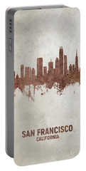San Francisco California Rust Skyline Portable Battery Charger