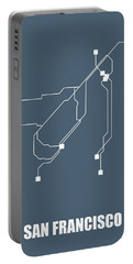 San Francisco Subway Map Portable Battery Charger