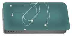 San Francisco Teal Subway Map Portable Battery Charger