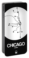 San Francisco White Subway Map Portable Battery Charger