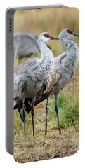 Sandhill Crane Pair Portable Battery Charger