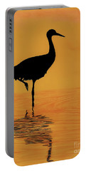 Sandhill - Crane - Sunset Portable Battery Charger