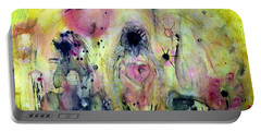 Portable Battery Charger featuring the painting Sanguine by 'REA' Gallery