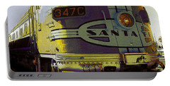 Santa Fe Railroad 347c - Digital Artwork Portable Battery Charger
