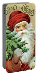 Santa With Christmas Tree Portable Battery Charger