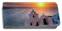 Santorini Sunset Portable Battery Charger