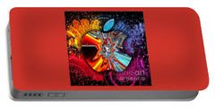 Portable Battery Charger featuring the digital art Say Some Thing  by A z Mami