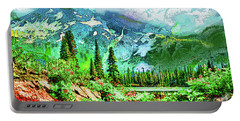 Scenic Mountain Lake Portable Battery Charger