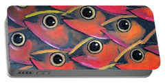 School Of Eyes Portable Battery Charger