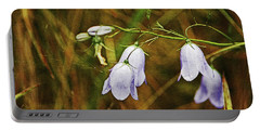 Scotland. Loch Rannoch. Harebells In The Grass. Portable Battery Charger