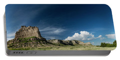 Scottsbluff National Monument In Nebraska Panorama Portable Battery Charger